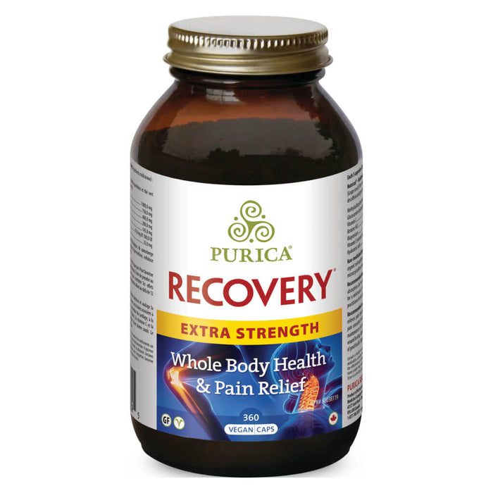 Bottle of Recovery Extra Strength 360 Vegan Capsules
