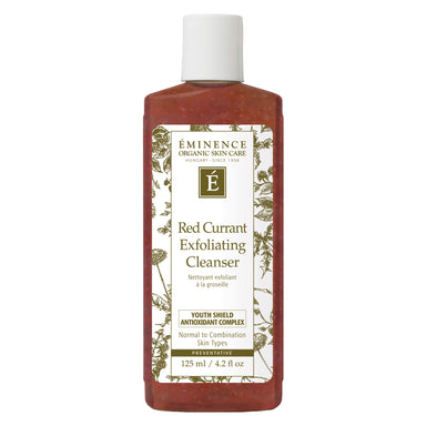 Bottle of Eminence Red Currant Exfoliating Cleanser 125 Milliliters