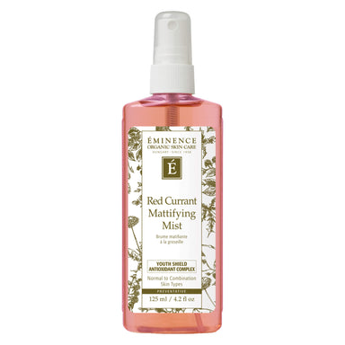 Spray Bottle of Eminence Red Currant Mattifying Mist 125 Milliliters