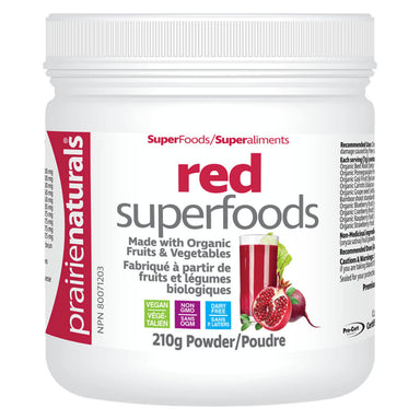 Container of Organic Red Superfoods Powder 210 Grams
