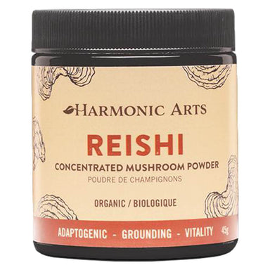 Jar of Harmonic Arts Reishi Concentrated Mushroom Powder 45 Grams