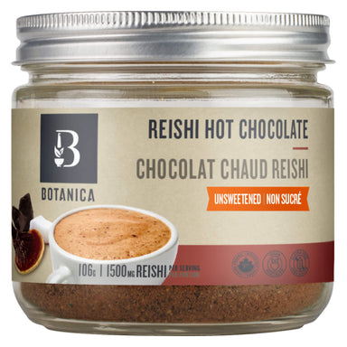 Jar of Botanica Reishi Hot Chocolate 106 Grams