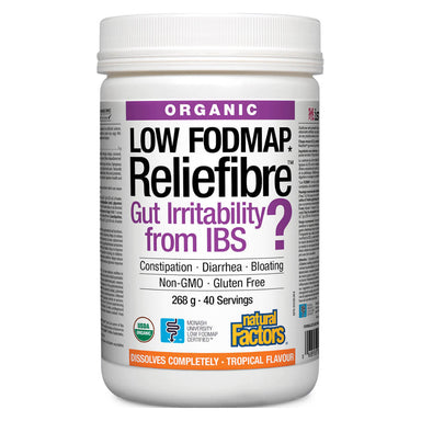 Container of Reliefibre® Tropical Flavour 268 Grams