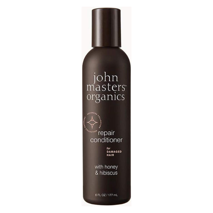 Bottle of John Masters Organics Repair Conditioner for Damaged Hair with Honey & Hibiscus 6 Ounces