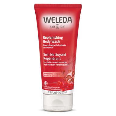 Bottle of Weleda Replenishing Body Wash - Pomegranate 6.8 Ounces