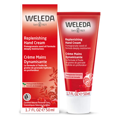 Bottle of Weleda Replenishing Hand Cream - Pomegranate 1.7 Ounces
