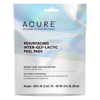 Pack of Acure Resurfacing Inter-Gly-Lactic Peel Pads 10 Pads