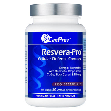 Bottle of Resvera-Pro 60 Vegetable Capsules