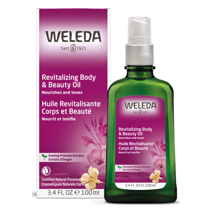 Pump Bottle of Weleda Revitalizing Body & Beauty Oil - Evening Primrose 3.4 Ounces