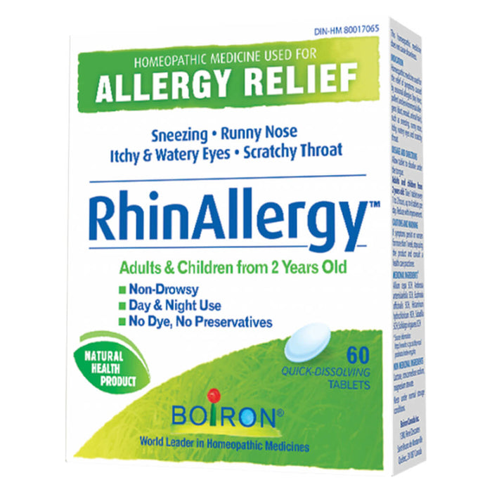Box of Boiron Rhinallergy 60 Quick-Dissolving Tablets