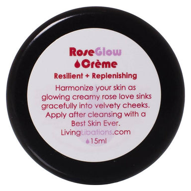 Jar of Living Libations RoseGlow Face Creme 15 Milliliters