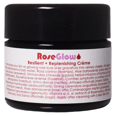 Jar of Living Libations RoseGlow Face Creme 50 Milliliters