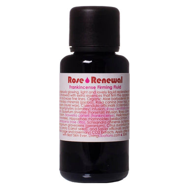 Bottle of Living Libations Rose Renewal + Frankincense Firming Fluid 30 Milliliters