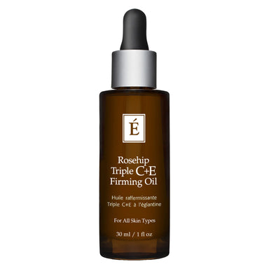 Dropper Bottle of Eminence Rosehip Triple C + E Firming Oil 30 Milliliters