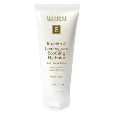 Bottle of Eminence Rosehip & Lemongrass Soothing Hydrator for Face & Body 147 Millilters