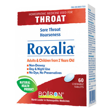 Box of Boiron Roxalia 60 Chewable Tablets