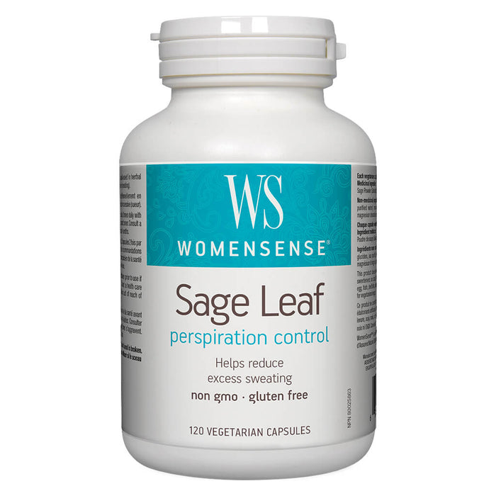 Bottle of WomenSense Sage Leaf 120 Vegetarian Capsules