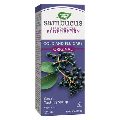 Box of Nature's Way Sambucus Standardized Elderberry 120 Milliletres
