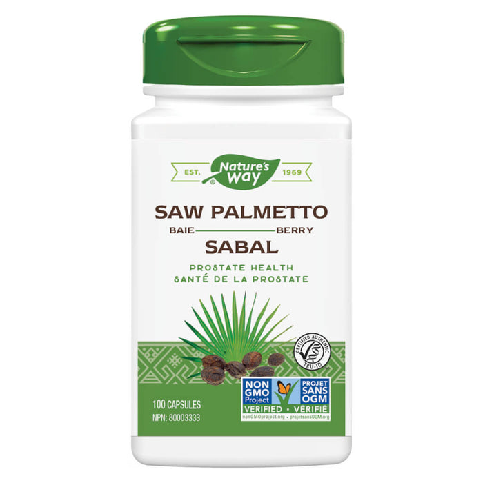 Bottle of Nature's Way Saw Palmetto Berry 100 Capsules