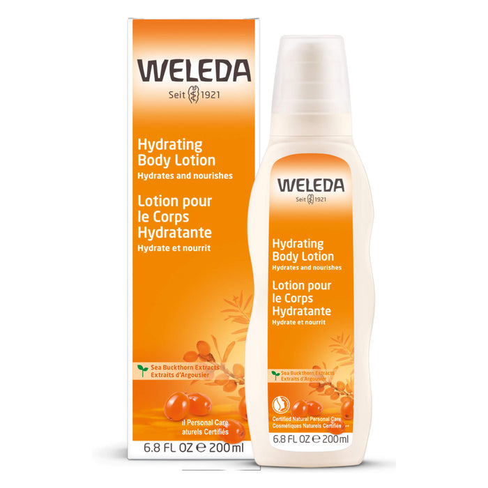 Bottle of Weleda Sea Buckthorn Hydrating Body Lotion 6.8 Ounces