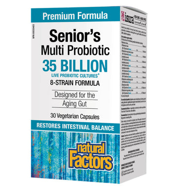 Box of Senior's Multi Probiotic 35 Billion 30 Vegetarian Capsules