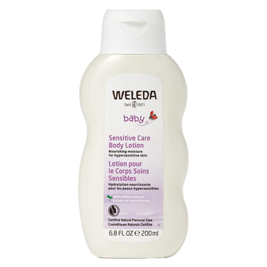 Bottle of Weleda Sensitive Care Body Lotion - White Mallow 6.8 Ounces