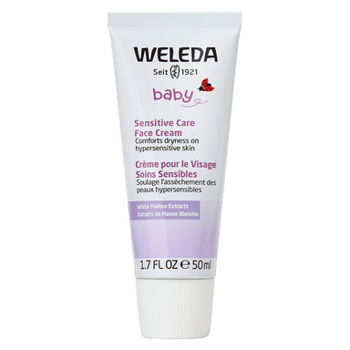 Bottle of Weleda Sensitive Care Face Cream - White Mallow 1.7 Ounces