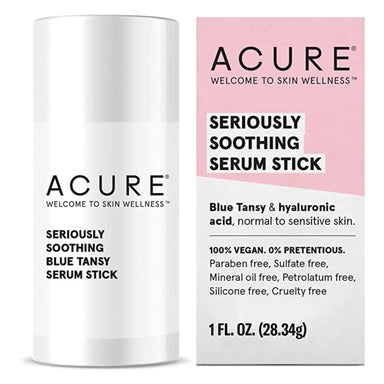 Box and Stick of Acure Seriously Soothing Serum Stick 1 Fluid Ounce
