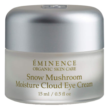 Jar of Eminence Snow Mushroom Moisture Cloud Eye Cream 15 Milliliters