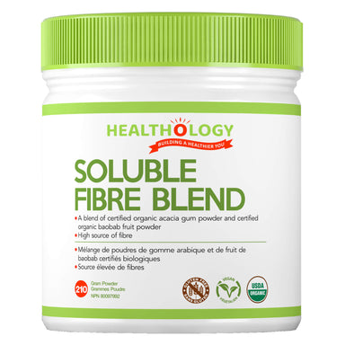Container of Healthology Soluble Fibre Blend 210 Grams