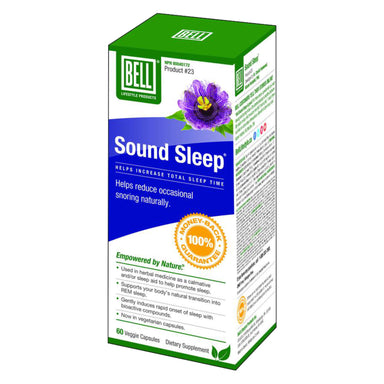 Box of Bell Sound Sleep 60 Veggie Capsules