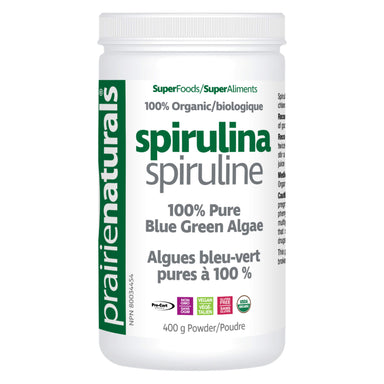 Container of Organic Spirulina Powder 400 Grams