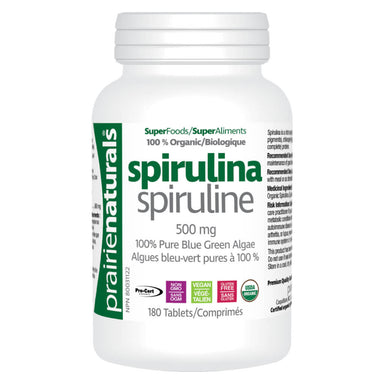 Bottle of Organic Spirulina 180 Tablets
