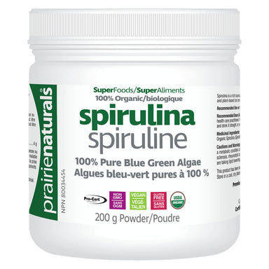 Container of Organic Spirulina Powder 200 Grams