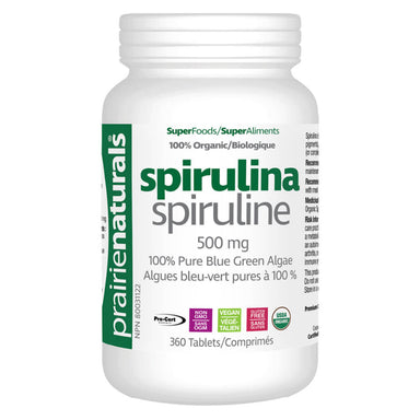 Bottle of Organic Spirulina 360 Tablets