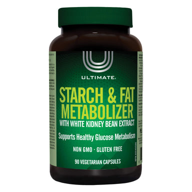Bottle of Ultimate Starch & Fat Metabolizer 90 Capsules