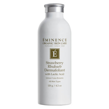Bottle of Eminence Strawberry Rhubarb Dermafoliant 120 Grams
