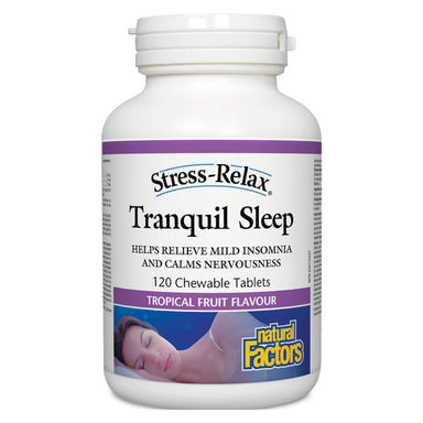 Stress-Relax® Tranquil Sleep Tropical Fruit Flavour 120 Chewable Tablets