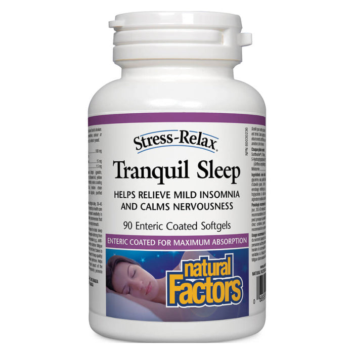 Bottle of Stress-Relax® Tranquil Sleep 90 Enteric-Coated Softgels