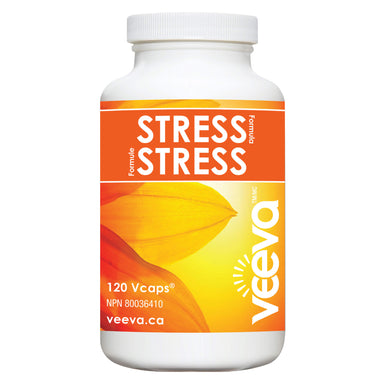Bottle of Veeva Stress Formula 120 V-Caps