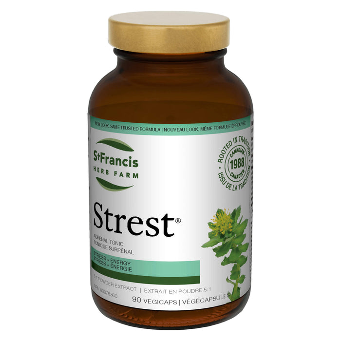 Bottle of St. Francis Herb Farm Strest Adrenal Tonic 90 Vegi-Caps