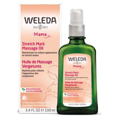 Pump Bottle of Weleda Stretch Mark Massage Oil 3.4 Ounces