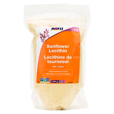 Now Foods - Sunflower Lecithin Powder 454 Grams | Optimum Health Vitamins, Canada