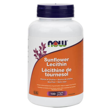 Bottle of Sunflower Lecithin 1200 mg 100 Softgels