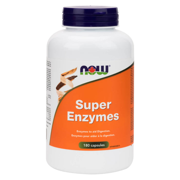 Bottle of Super Enzymes 180 Capsules