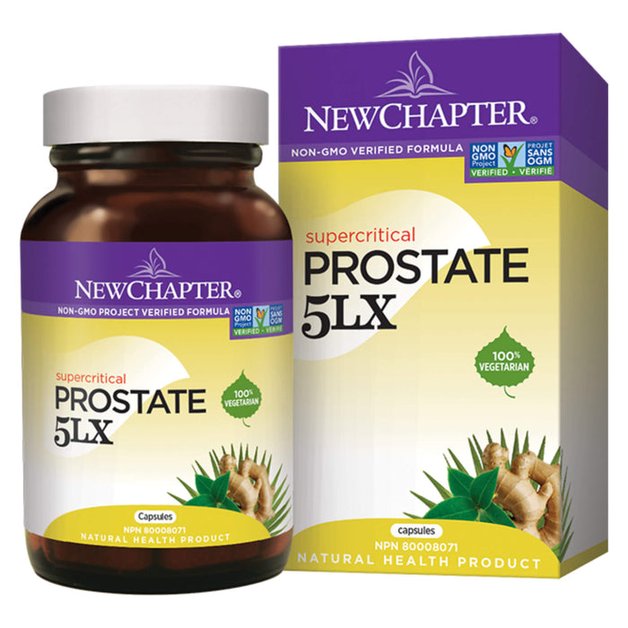 Bottle & Box of New Chapter Supercritical Prostate 5LX