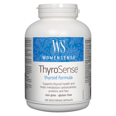 Bottle of ThyroSense 180 Vegetarian Capsules