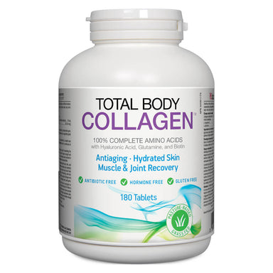 Bottle of Total Body Collagen 180 Tablets