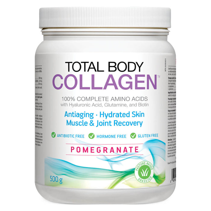 Container of Total Body Collagen Powder Pomegranate Flavour 500 Grams
