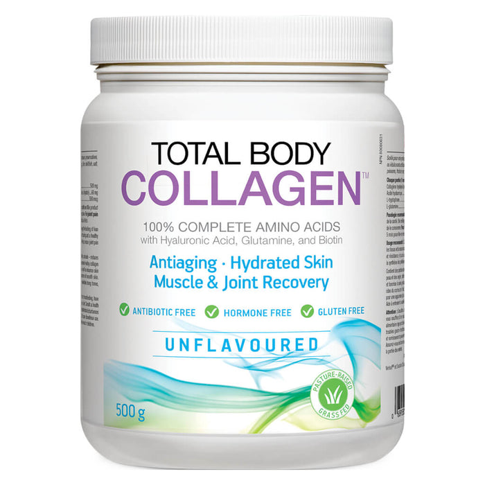 Container of Total Body Collagen Powder Unflavoured 500 Grams